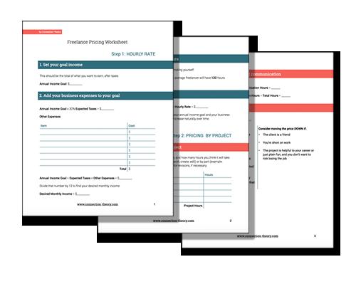 Freelance Pricing Work Sheet