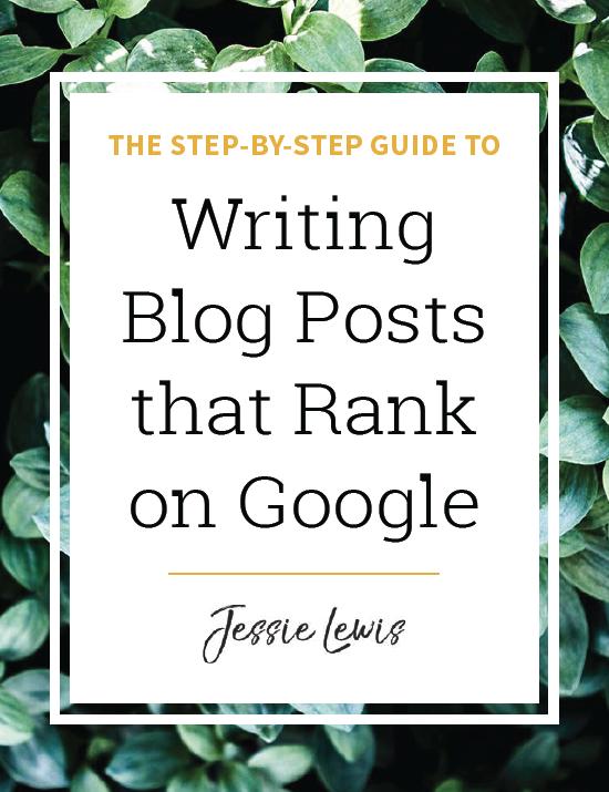 Writing Blog Posts that Rank on Google