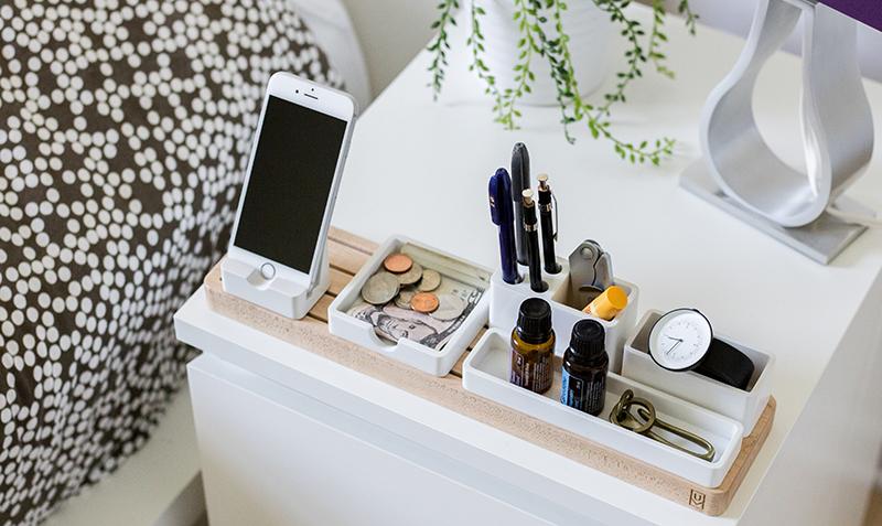 photo of organized nightstand