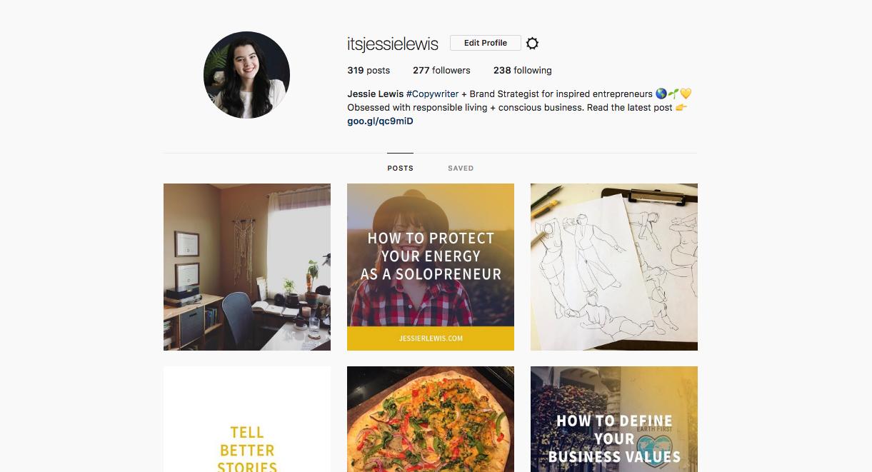 Instagram social media example