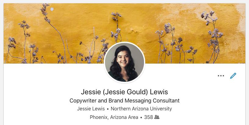 LinkedIn social media account